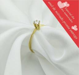 Anel de noivado em Ouro 18 k