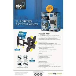 Suporte Articulado ELG Tvs De 15'' A 43'' Move200 Full20 Pro