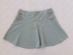 Mini-saia em lurex