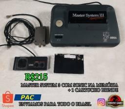Master System III Compact Funcionando normalmente - Tectoy