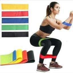 Faixas Elásticas Mini-band Funcional Pilates Yoga 5 Unidades