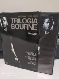 Box Trilogia Bourne em DVD com luva