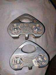 Polia Dupla 24kn Linha Tirolesa Alumínio Corda 13mm En Uiaa