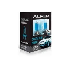 Par de Lâmpadas Super Brancas Alper Crystal Blue Power H27 4200K 12V 27W