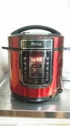 Panela Elétrica de Pressão Philco Digital 6 Litros Inox Vermelho 220V