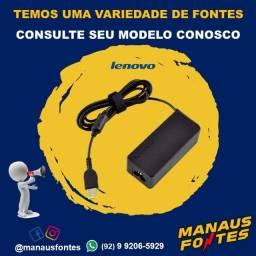 Fonte Notebook Lenovo Ponta Quadrada com Garantia de Três Meses