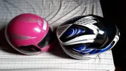 380,00R$ Dois capacetes e bota de chuva