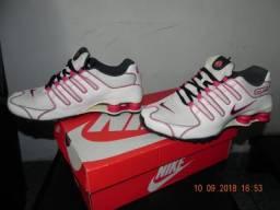 Nike Shox NZ 38 BrancoVermelho Serve 37-38 bb870b8cf0657