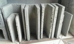 Blocos e canaletas de concreto