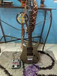 Guitarra Washburn Wr154 + Pedaleira Zoom G1 C/fonte