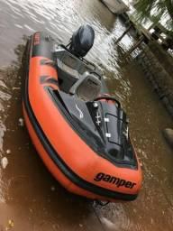 Bote inflável (kart) motor yamaha 4T 40Hp carreta rodoviária - 2014