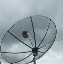Vendo uma antena parabólica com receptor bom estado *