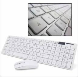 Teclado + Mouse Slim Sem Fio Keyboard Dock 2.4g