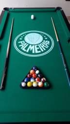 Mesa Charme Carlin Cor Preta Tecido Verde Logo Palmeiras Mod. JWAW4555