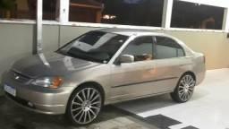 """Honda Civic 2° dono aro 20"""" completo - 2002"""
