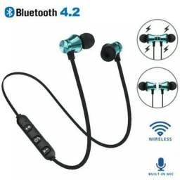 Fone de Ouvido Bluetooth Recarregável Novo