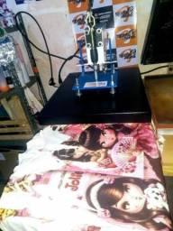Maquina de estampar marca compacta print novinha tamanho 40x50