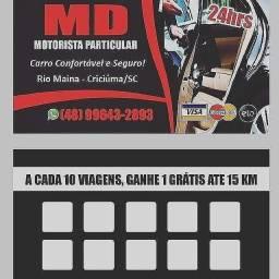 MD Motorista Particular 24horas. *