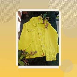 Jaqueta jeans amarela M