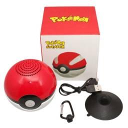 Caixa De Som Bluetooth Pokébola Pokémon Caixinha Infantil