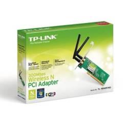 Placa de Rede Wifi Tp Link TL-Wn851Nd Duas Antenas 300Mbps Nova
