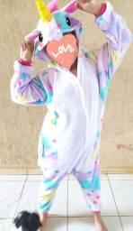 Pijama/fantasia unicórnio
