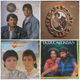 Lote discos vinil sertanejo 4 LP