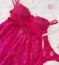 Camisola babydoll Pink ou Azul P