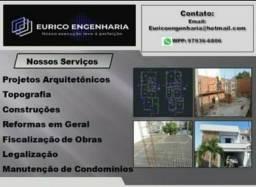 Eurico Engenharia - Projetos e execuções.