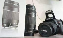 Canon rebel T100 + lente 75-300 mm