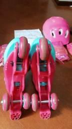 Título do anúncio: Patins infantil 3 rodas Barbie (Marca Fun)
