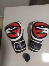 Luvas + bandagem + bucal (boxe e muay thai)