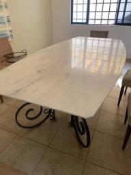 Título do anúncio: Vende-se tampo de mesa de Mármore Branco.