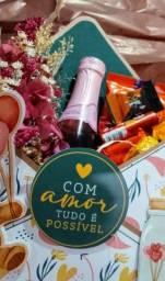 Presente para Dia dos Namorados Caixa com gostosuras