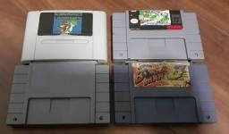 Lote cartuchos fitas Super Nintendo snes famicom