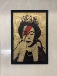 Quadros de decoração  Airton Senna e rainha Elizabeth