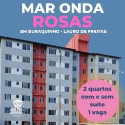 Oportunidade - Residencial Mar Onda Rosas, 2/4 com e sem suíte.