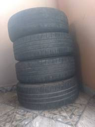 Rodas de ferro aro 14 com 3 pneus 175/65 novos Goodyear e o outro meia vida