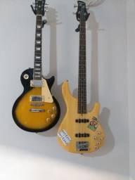 Guitarra e contrabaixo