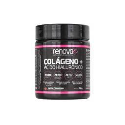 Renova Be Colágeno + Ácido Hialurônico e Vitaminas Para Pele, Sabor Limão e Cranberry