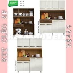 Armário de cozinha Cleo 8 portas
