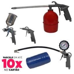 Kit Jogo De Acessórios para Compressor 5 Pçs