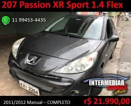 Peugeot 207 Passion XR Sport 1.4 8v Flex 2011/2012 - Completo (2. dono a 6 anos)