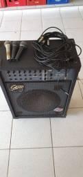 Caixa de som, 3 microfones