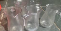Título do anúncio: 6 jarras de acrílico
