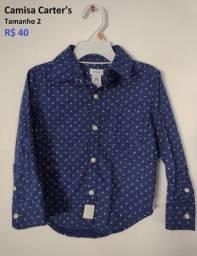 Camisa Carter's - tamanho 2