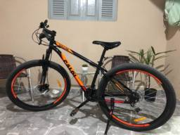 Bicicleta Mountain Bike Caloi Vulcan- Semi Nova