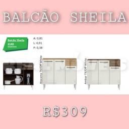 Balcão balcão para cozinha Sheila