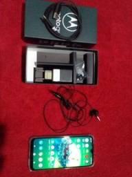 Motorola G8-PLUS completo na caixa com todos os acessórios incluindo Nota Fiscal