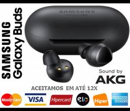 Headphone s/ Fio Samsung Galaxy Buds Black, AKG, Bluetooth, Novíss, Caixa, NF, Gar